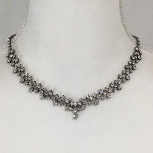 """Elegant Rhinestone Necklace 17"""""""